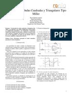 Generador de Ondas Cuadradas y Triangulares Tipo Miller