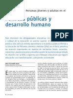 Políticas Públicas y Desarrollo Humano Irma Marino Vargas