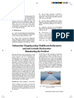 Submarine Mapping Using Multibeam Bathymetry