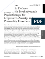 changing defense styles with psychodynamic psychotherapy