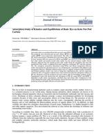 Adsorption Study of Kinetics and Equilibrium of Basic Dye on Kola Nut Pod Carbon[#315642]-380276.pdf