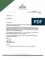 Hartford Schools discipline letter to teacher assaulted