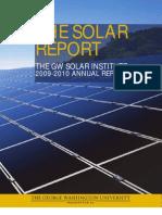 GW Solar Institute Annual Report 2010