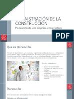 Planeación empresa de construcción