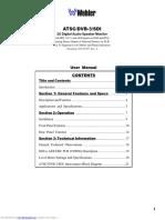 2U Stereo Digital Audio Speaker Monitor (Manual)