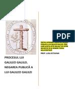 NEGAREA PUBLICĂ LUI GALILEO GALILEI