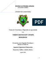 Temas de Covarianza y Regresion en Agronomia