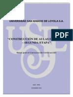 Bases Para Construcción Aulas II Etapa Huachipa