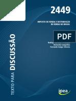Imposto de Renda e Distribuição de Renda no Brasil