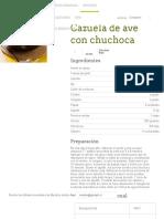 Cazuela de Ave Con Chuchoca