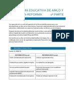 La Reforma Educativa de AMLO y La Contra-Reforma 1ª Parte