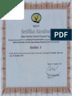 Sertifikat akreditasi  Ikm unnes