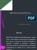 MÉTODOS FILOSÓFICOS