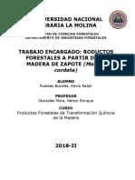 Productos Forestales a Partir de La Madera de Matisia Cordata- Final