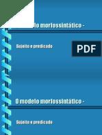 Português PPT - Modelo Morfológico