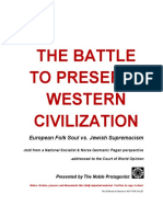 The Battle to Preserve Western Civilization