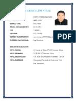 Curriculum Vitae Alex Enrriquez Sullcaray