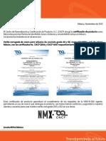 Arcelormittal-certificado de Calidad.