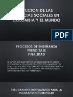 Situcion de Las Ciencias Sociales en Colombia y