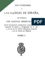 J.L. Villanueva, Viage literario a las iglesias de España, tomo I