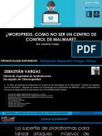 BSIDES CHILE 2018 - Wordpress - ¿Como No Ser Un Centro de Control de malware?