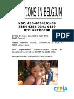 Donations Bank Account Belgium