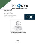 Ficha 6 - A Essencia Do Neoliberalismo