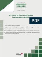 2014 - MISTO - Caderno de Questões - Prova de Língua Portuguesa, Língua Inglesa e Redação - Versão 02