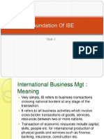 Foundation of IBE(Unit 1&2)