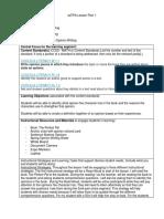 edtpa lesson plan 1-4