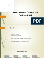Pre Launch Demo on Online PMS