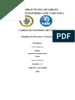 MAQUINAS TRANSPORTADORAS