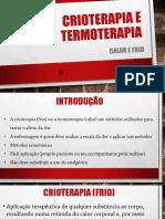 Crioterapia e Termoterapia