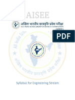 AISEE Syllabus Engineering