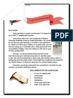 welcome letter 2019