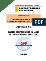 MODULO 01 - TITULO 05 SUJETOS COMPRENDIDOS EN LA LEY DE CONTRATACIONES DEL ESTADO.docx