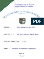 Tecnologia del concreto (Maderas- Estructura y Propiedades)