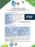 Guía de actividades y rúbrica de evaluación - Etapa 2 - Estudio de los fenómenos asociados al problema