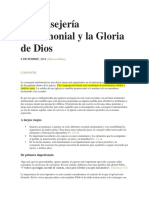 La Consejería Matrimonial y La Gloria de Dios