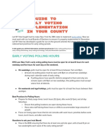 Early Voting Implementation Best Practices