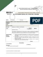 Modelo de Examen Parcial de Literatura Peruana 2013-1