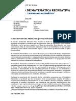 PROYECTO - CALENDARIO MATEMÁTICO