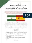 Poesía en andaluz con traducción al castellano