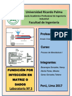 Lab 3 Fundición Por Inyección en Matriz o Dados