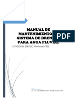 Manual de Mantenimiento de Agua Pluvial