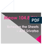 Between the Sheets – Anil Srivatsa