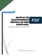 Manual de Mantenimiento de Drenajes