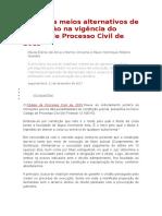Possíveis Meios Alternativos de Constrição Na Vigência Do Código de Processo Civil de 2015