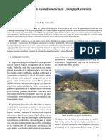 Modelación de Muros de Contención Incas en Centrifuga Geotécnica