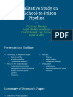 a qualitative study on the school-to-prison pipeline